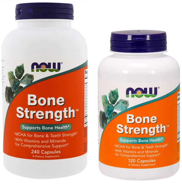 240 и 120 капсул NOW Bone Strength
