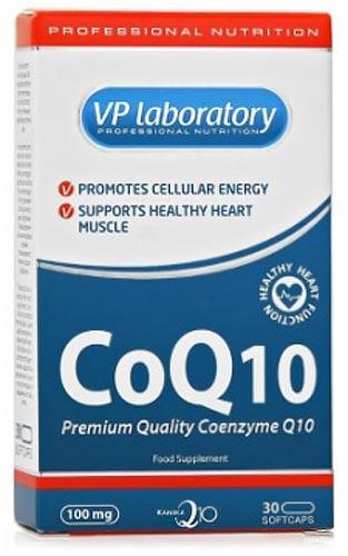 Упаковка коэнзима в 30 капсулах coq10 vplab