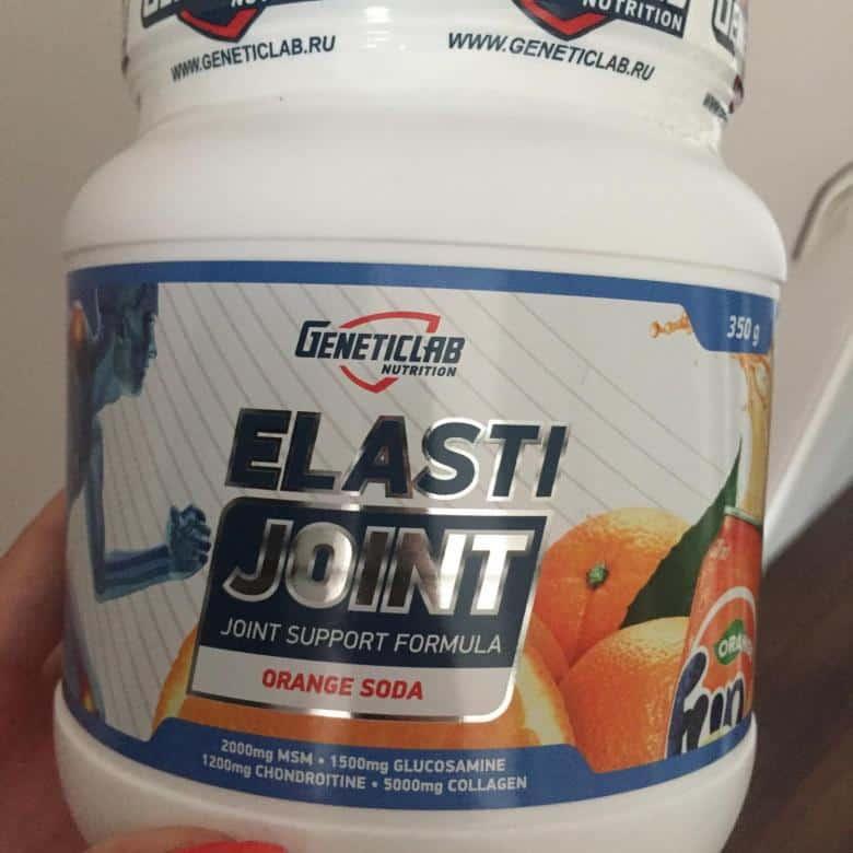 Упаковка порошка с апельсином Geneticlab Elasti Joint