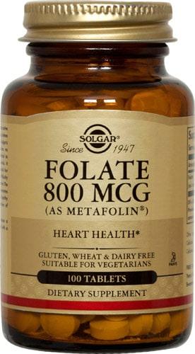 Добавка фолат от Солгар 800 мг