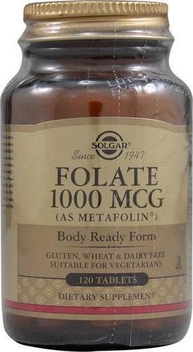 Добавка фолат от Солгар 1000 мг