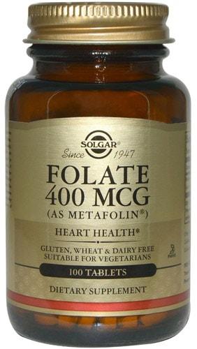 Добавка фолат от Солгар 400 мг 100 капсул