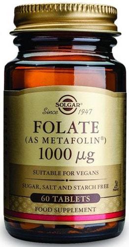 Добавка фолат от Солгар 60 капсул 1000 мг