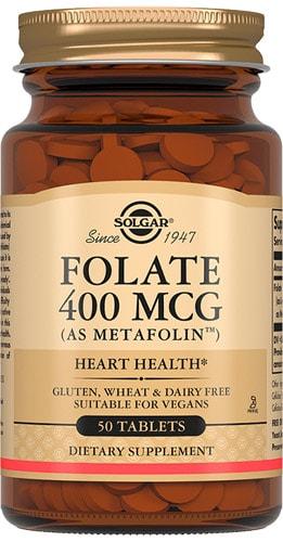 Добавка фолат от Солгар 400 мг 50 капсул
