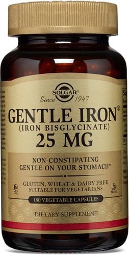 Iron gentle добавка 180 капсул 25 мг