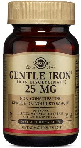 Iron gentle добавка 90 капсул 25 мг