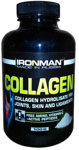 100 грамм добавки Ironman Collagen в виде порошка