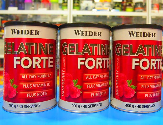 Три добавки с малиной Weider Gelatine Forte