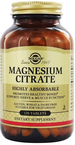 120 таблеток Добавка от Солгар magnesium citrate