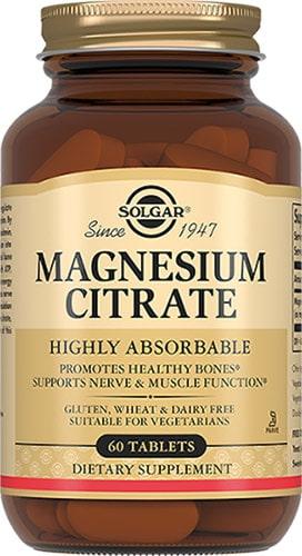 60 таблеток Добавка от Солгар magnesium citrate