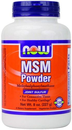 Добавка MSM NOW в виде порошка в упаковке 227 грамм