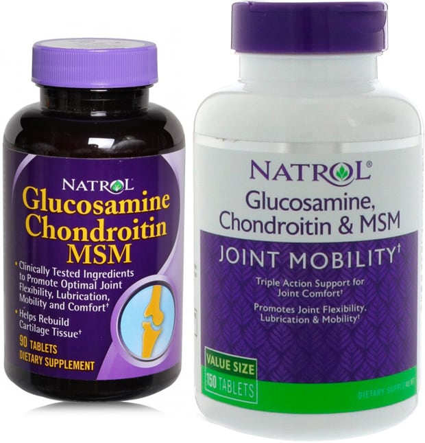 Две упаковки Natrol Glucosamine Chondroitin MSM