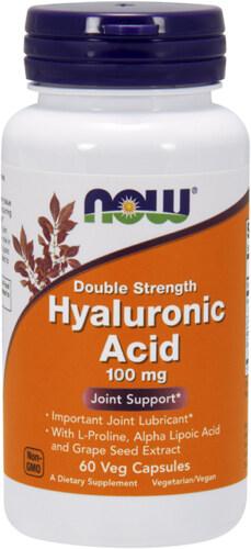 Добавка 60 капсул по 120 мг Now Гиалуроновая кислота