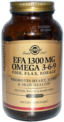 Добавка с рыбьим жиром omega 3-6-9 solgar 120 капсул