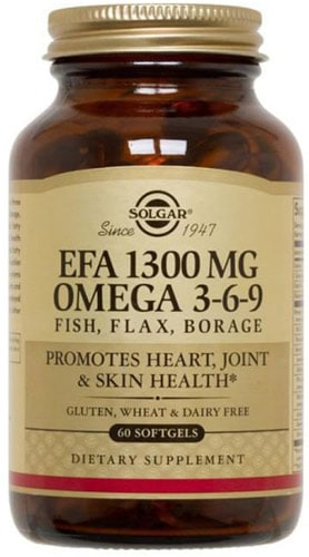Добавка с рыбьим жиром omega 3-6-9 solgar 60 капсул