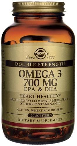 Омега 3 от Солгар тройная сила 700 мг 120 капсул