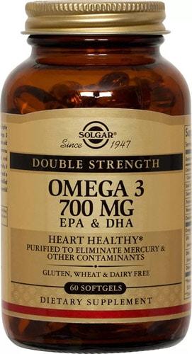 Омега 3 от Солгар тройная сила 700 мг 60 капсул