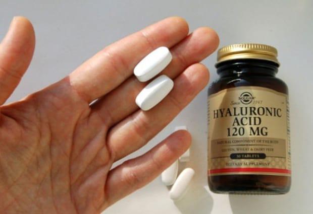 Много таблеток и баночка Солгар Гиалуроновая кислота