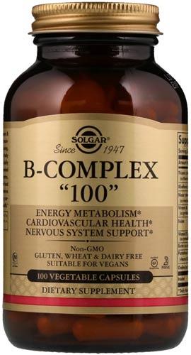 Упаковка из 100 капсул Solgar B-Complex 100