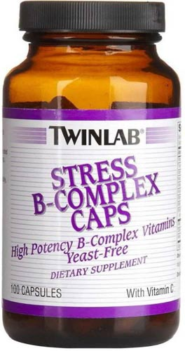 Упаковка добавки twinlab stress 100 капсул