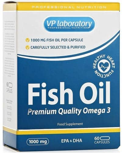 Добавка с рыбьим жиром vplab fish oil 60 капсул