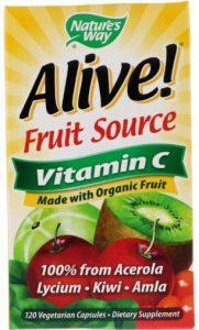 Упаковка витамина Alive!, Fruit Source, Vitamin C