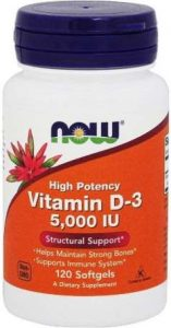 Добавка Витамин D-3, High Potency от Now Foods