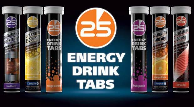 Баннер добавки 25 Energy Drink Tabs