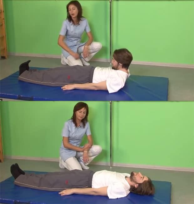 Упражнение Голова сгибается к груди
