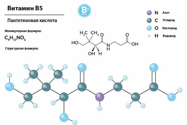Формула витамина B5
