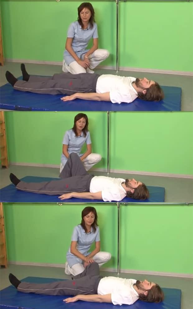 Правая нога сгибается в колене и на счет 2 отводится в сторону