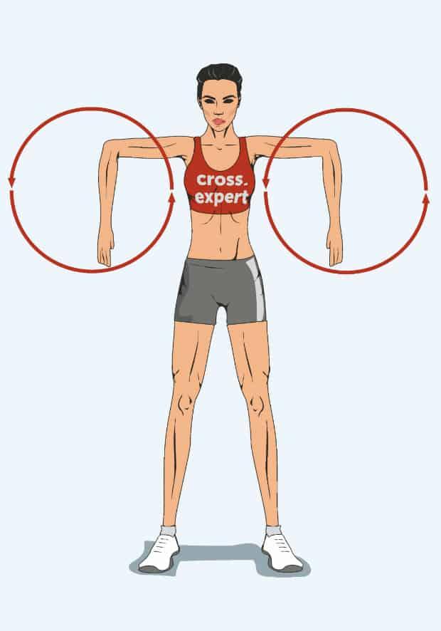 круговые вращения в локтевых суставах