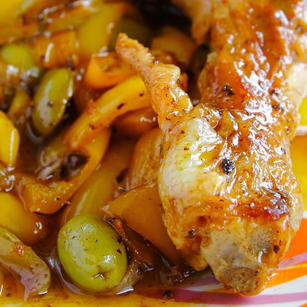 тушеная курица с овощами по-мексикански