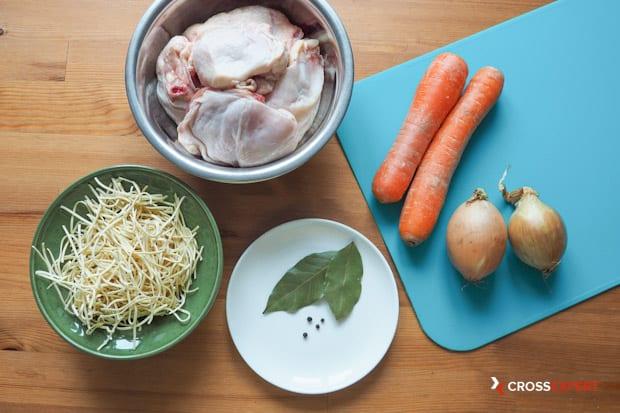 куриный суп с лапшой - ингредиенты