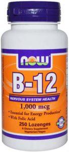 Упаковка добавки B-12 от Now Foods