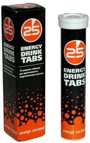 Добавка 25 Energy Drink Tabs с апельсином