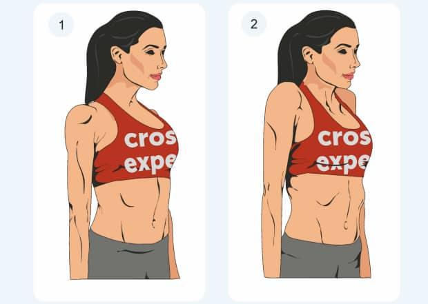 поднятие и опускание плеч