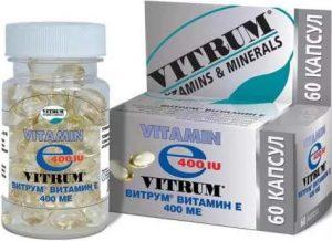 Упаковка добавки Vitamin E от Vitrum