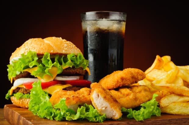 Таблица калорийности блюд в Бургер Кинг