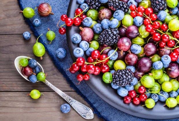 Таблица калорийности ягод