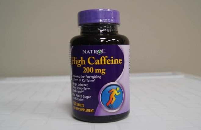Упаковка добавки Natrol High Caffeine