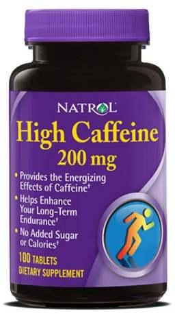 Капсулы Natrol High Caffeine