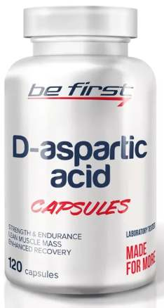 Упаковка капсул Be First D-Aspartic Acid