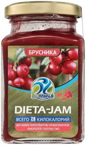 Dieta-Jam со вкусом брусники