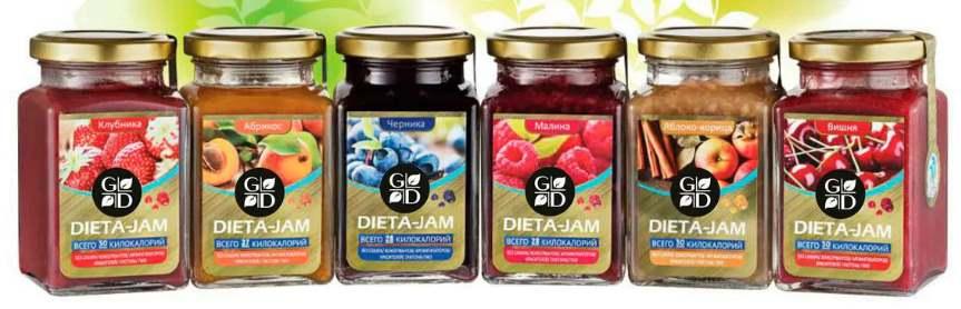 Dieta-Jam с разными вкусами
