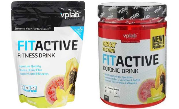 Два напитка VPLab Fit Active