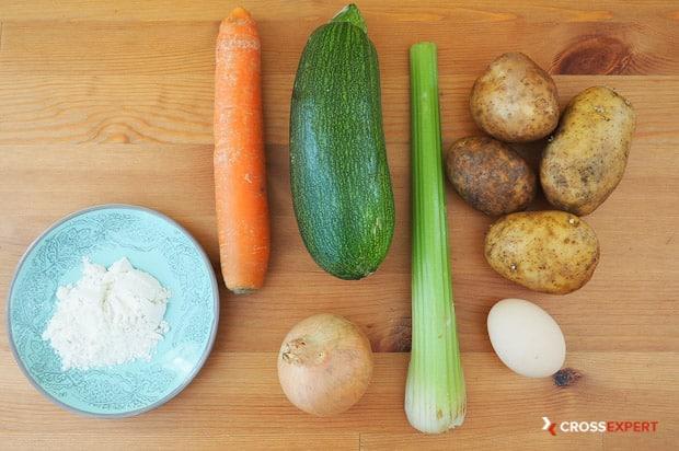 Овощные котлеты - ингредиенты