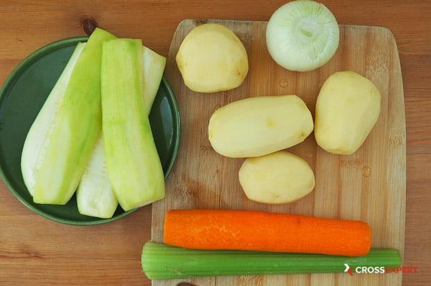 Чистим овощи на овощные котлеты