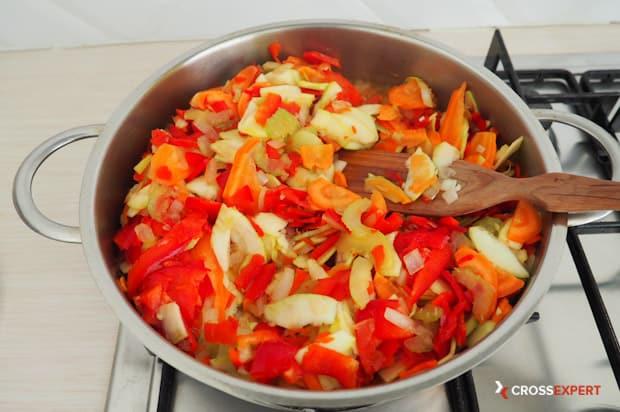 Протушить овощи