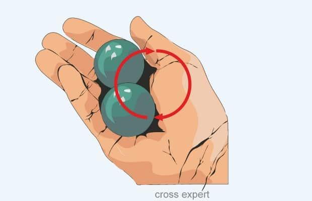 Вращение шариков в руке